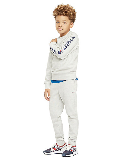 TOMMY HILFIGER Sweat à logo col ras-du-cou - GREY HEATHER - TOMMY HILFIGER Sweats - image principale