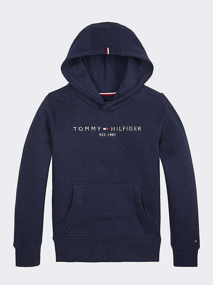 Essential Tommy Hilfiger Logo Hoody | BLUE | Tommy Hilfiger