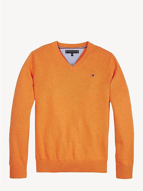 ae3c7acce6f675 orange essential pullover aus bio-baumwolle für jungen - tommy hilfiger