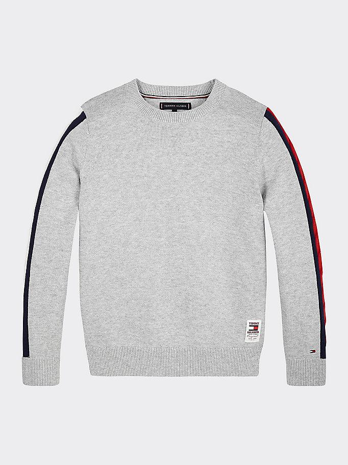 Pullover mit Zopfmuster Streifen