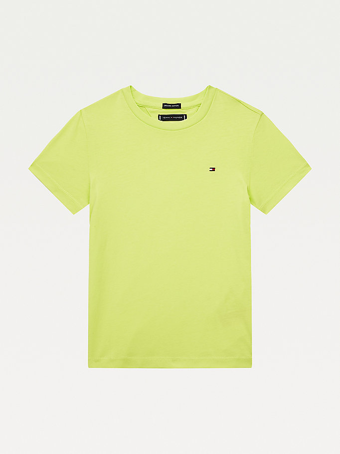 green essential flag embroidery t-shirt for boys tommy hilfiger