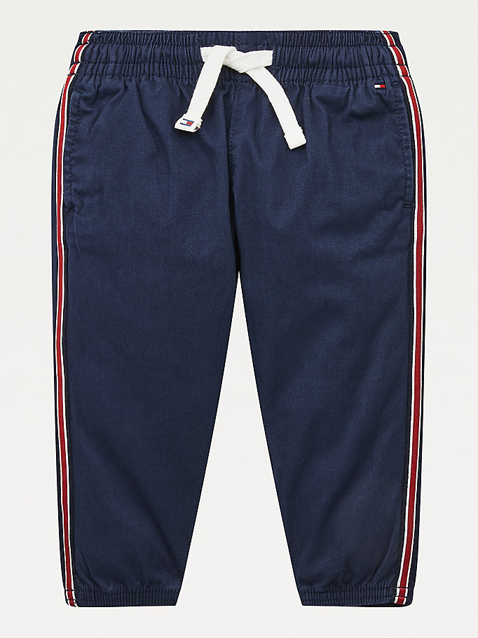 blue stripe tape pull-on trousers for boys tommy hilfiger