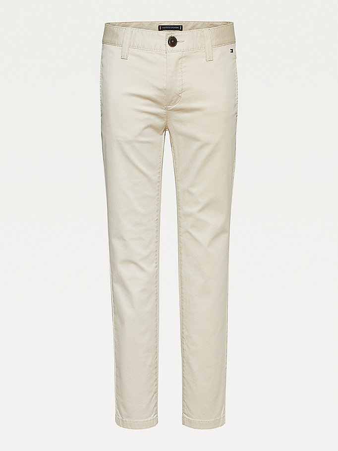 beige essential th flex skinny chinos for boys tommy hilfiger