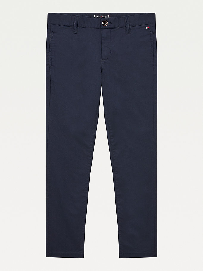chino skinny essential th flex bleu pour garcons tommy hilfiger