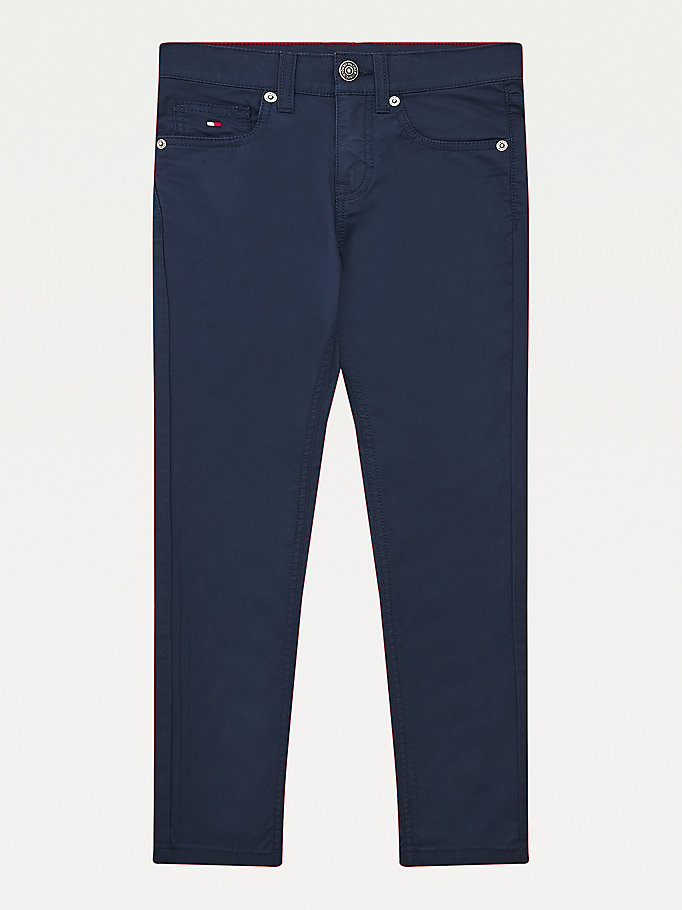 blue scanton slim trousers for boys tommy hilfiger