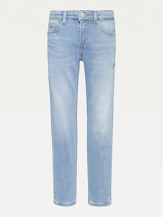 denim scanton slim faded jeans for boys tommy hilfiger