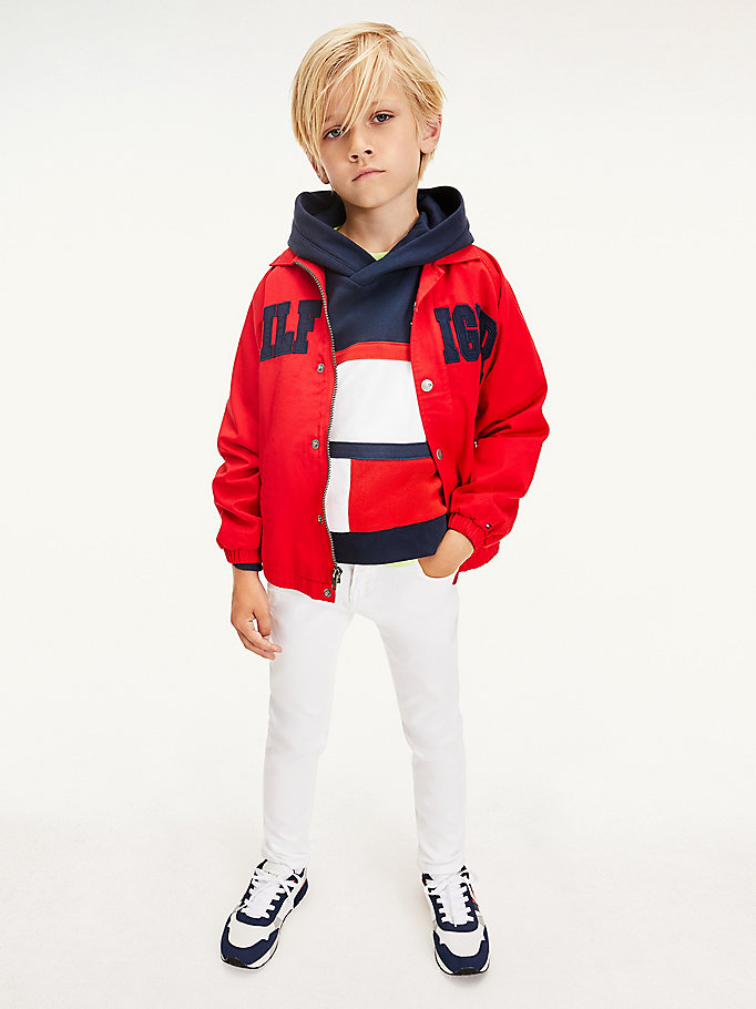 white scanton slim white jeans for boys tommy hilfiger