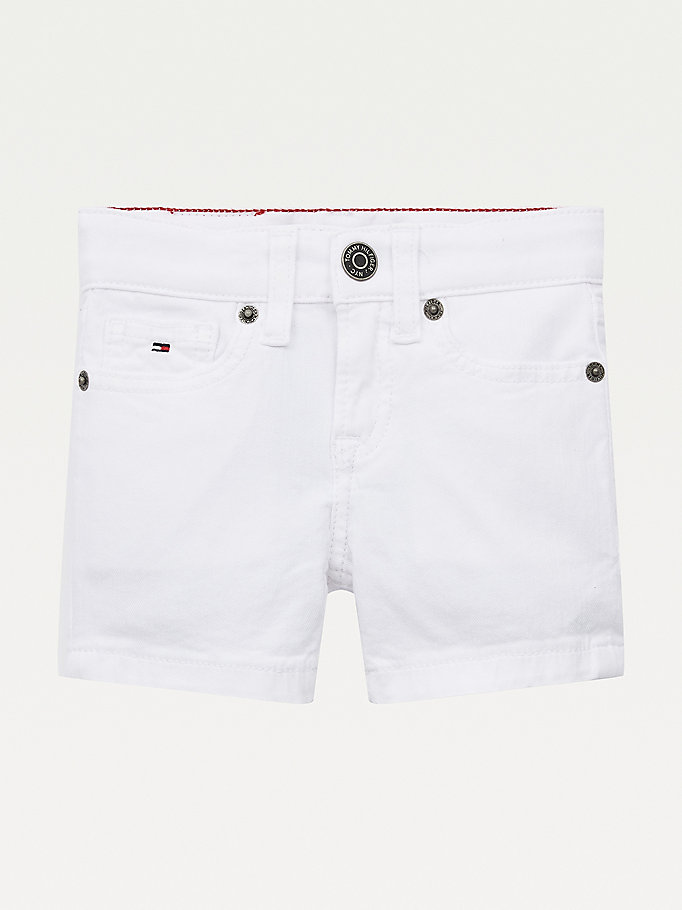 wit spencer short van stretchdenim voor boys - tommy hilfiger