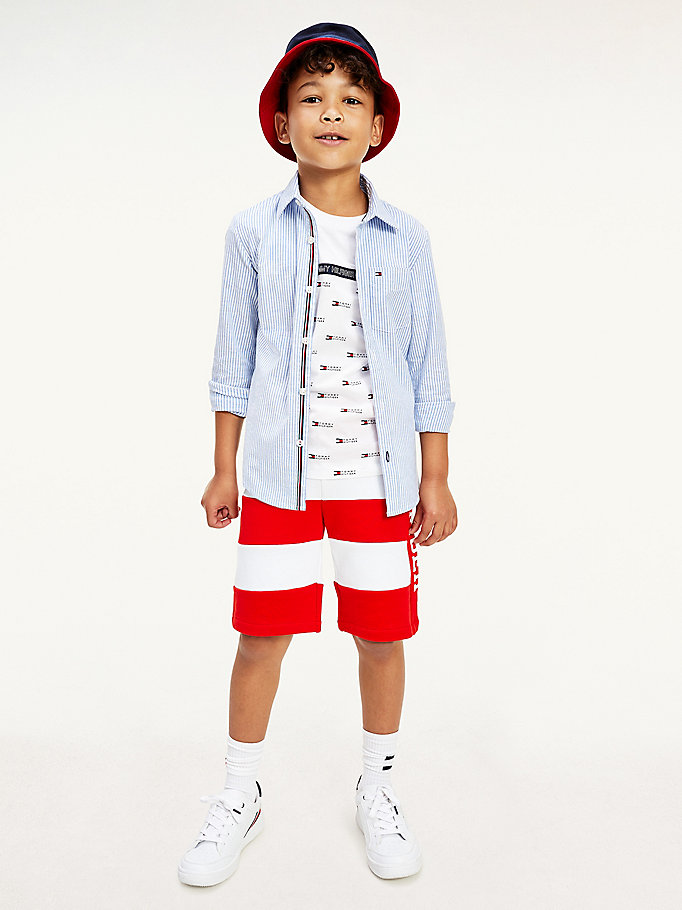 blue ithaca stripe shirt for boys tommy hilfiger