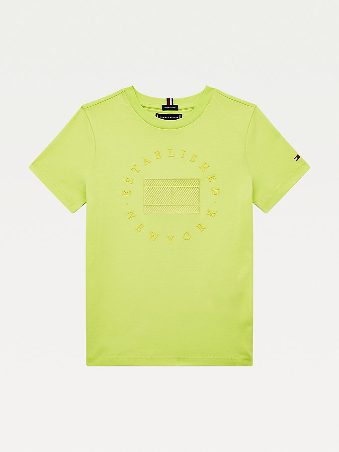 green new york logo t-shirt for boys tommy hilfiger