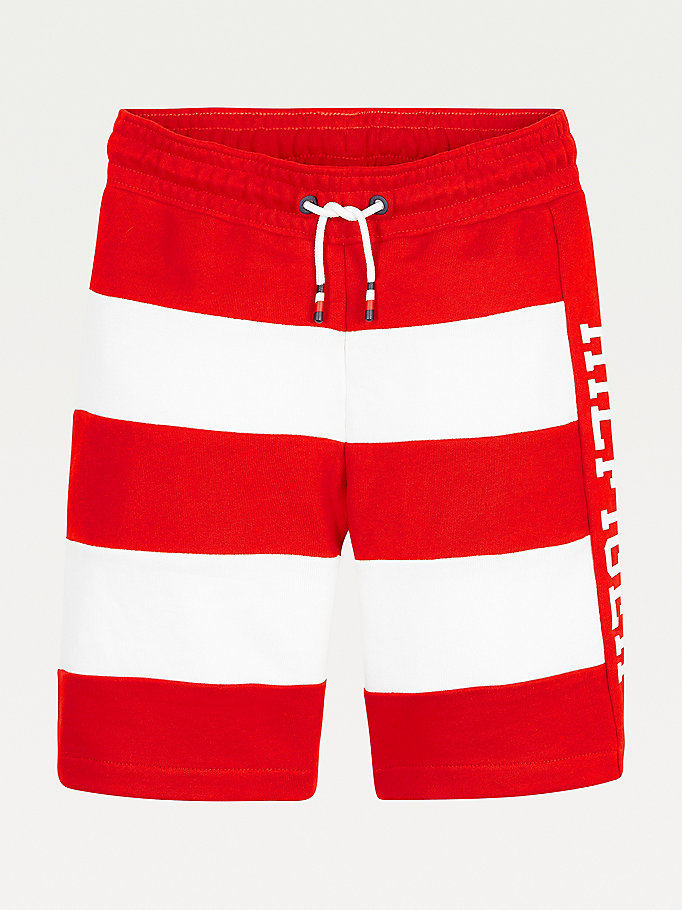 red stripe drawstring shorts for boys tommy hilfiger