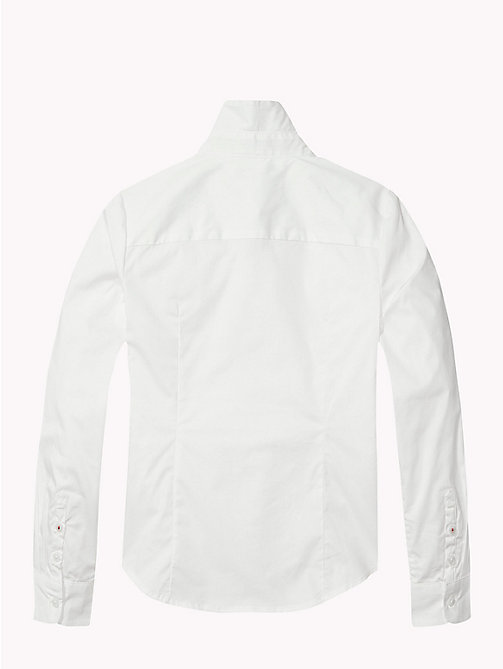 Poplin Regular Fit Shirt - CLASSIC WHITE - TOMMY HILFIGER Girls - detail image 1
