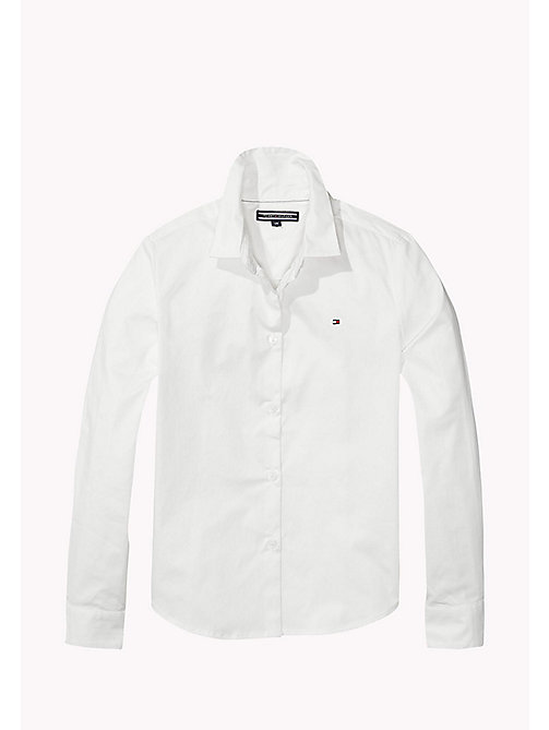 Poplin Regular Fit Shirt - CLASSIC WHITE - TOMMY HILFIGER Girls - main image