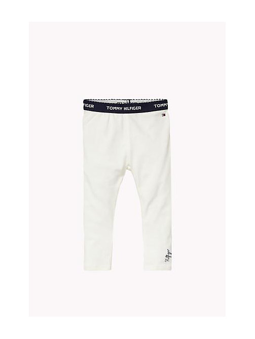 Essential Legging - BRIGHT WHITE - TOMMY HILFIGER Girls - main image