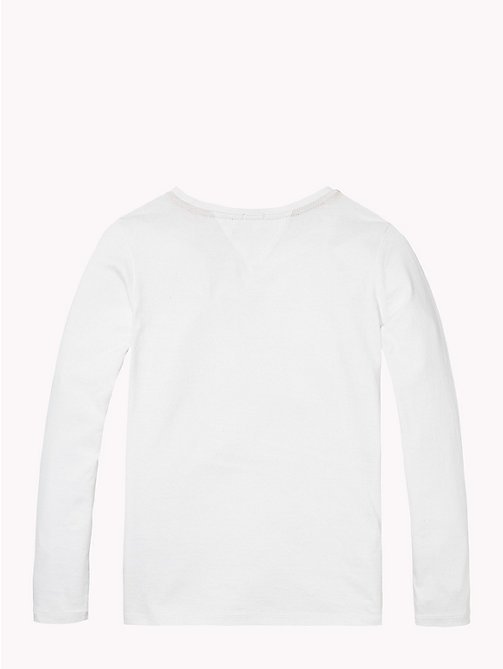 Cotton Regular Fit Tee - CLASSIC WHITE - TOMMY HILFIGER Girls - detail image 1