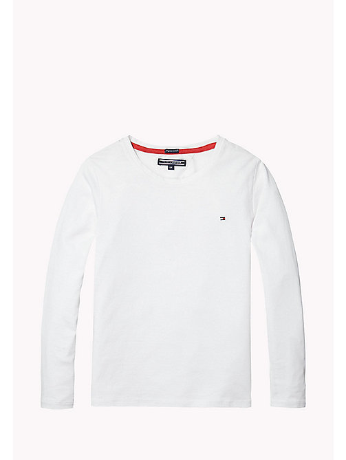Cotton Regular Fit Tee - CLASSIC WHITE - TOMMY HILFIGER Girls - main image