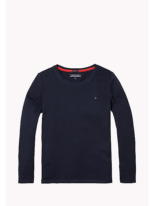TOMMY HILFIGER Regular Fit T-Shirt aus Baumwolle - MIDNIGHT - TOMMY HILFIGER Oberteile & T-shirts - main image