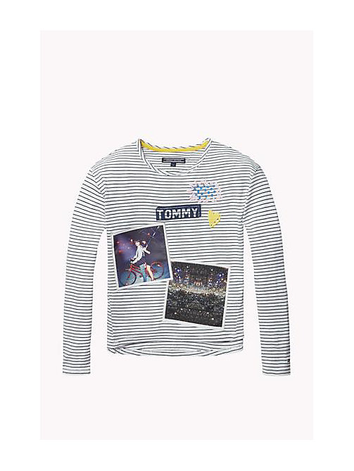 TOMMY HILFIGER Cotton Crew Neck T-Shirt - BRIGHT WHITE - TOMMY HILFIGER Girls - main image
