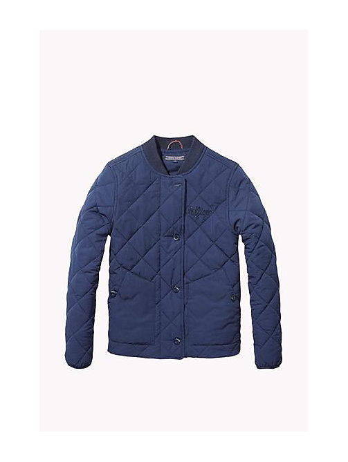 TOMMY HILFIGER Quilted Jacket - NAVY BLAZER - TOMMY HILFIGER Girls - main image