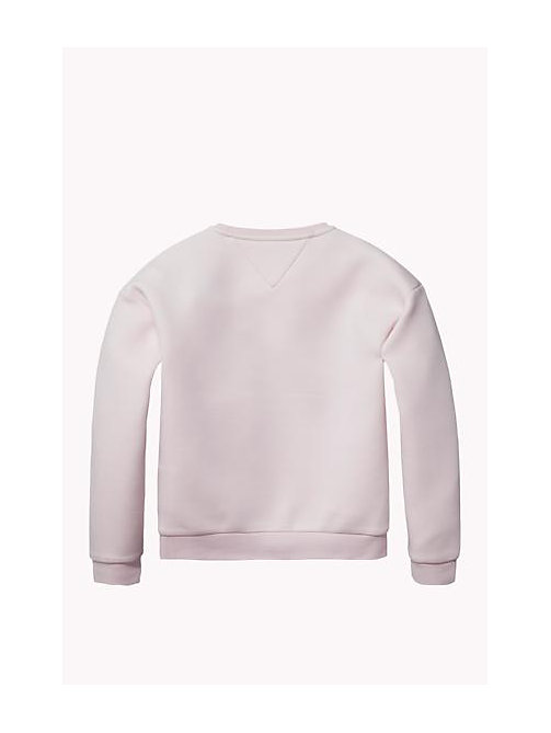 TOMMY HILFIGER Cotton Modal Crew Neck Jumper - SOFT PINK - TOMMY HILFIGER Girls - detail image 1