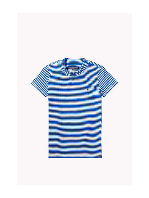 TOMMY HILFIGER Striped Top - PALACE BLUE - TOMMY HILFIGER Girls - main image