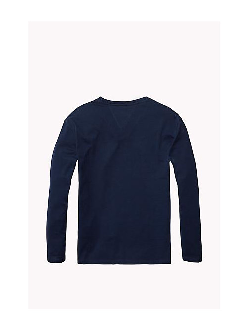 TOMMY HILFIGER Organic Cotton Crew Neck T-Shirt - NAVY BLAZER - TOMMY HILFIGER Girls - detail image 1