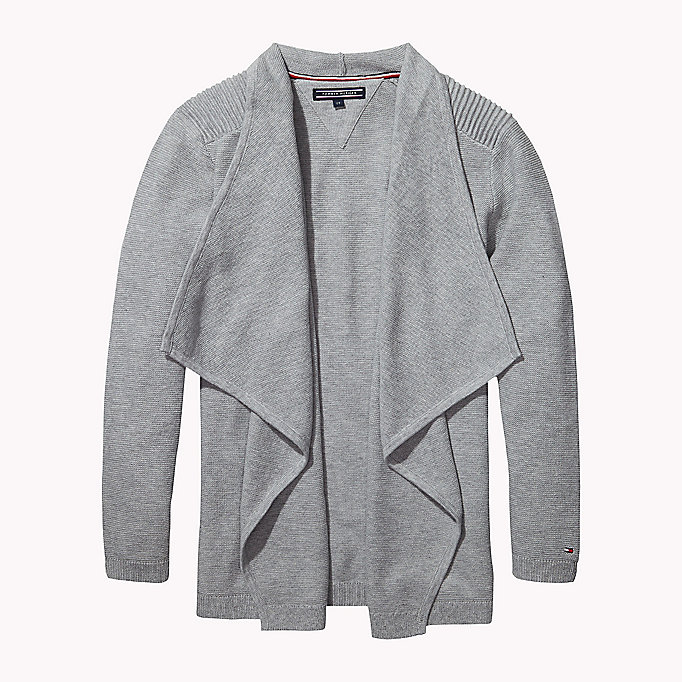 Cotton Waterfall Cardigan   Tommy Hilfiger   Official Website
