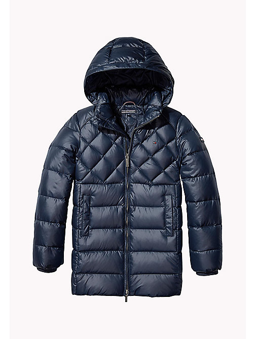TOMMY HILFIGER Down-Filled Hooded Parka - NAVY BLAZER - TOMMY HILFIGER Girls - main image