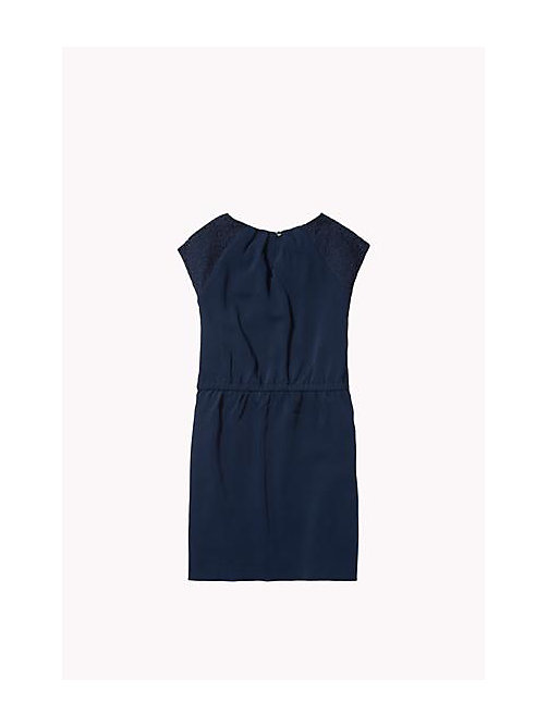 TOMMY HILFIGER Lace Detail Dress - NAVY BLAZER - TOMMY HILFIGER Girls - detail image 1