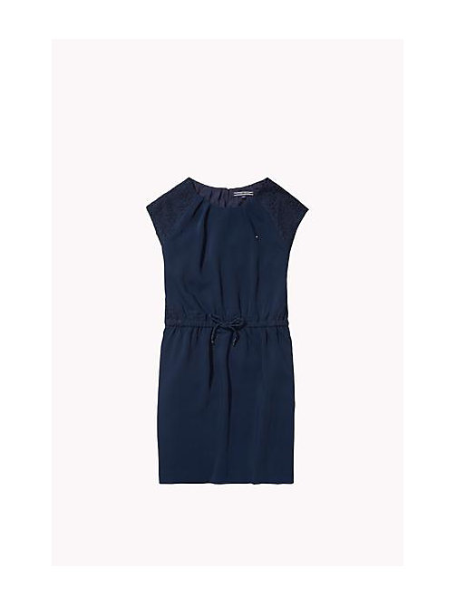 TOMMY HILFIGER Lace Detail Dress - NAVY BLAZER - TOMMY HILFIGER Girls - main image