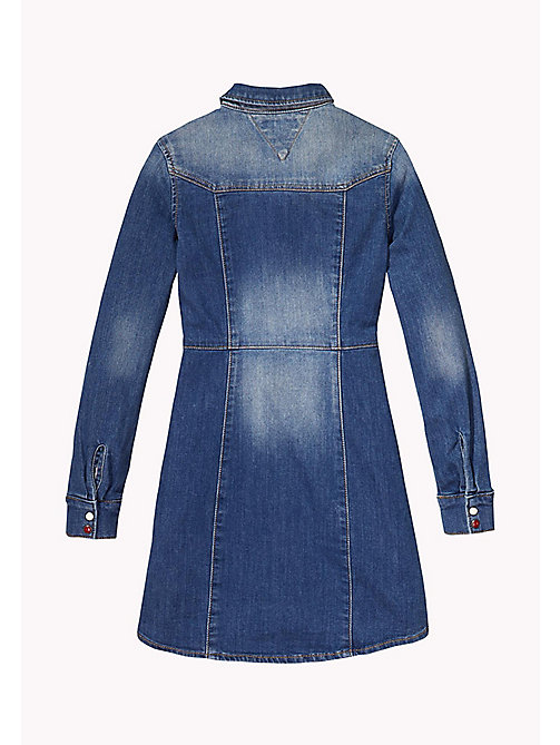 TOMMY HILFIGER Denim Shirt Dress - DELRIDGE BLUE STRETCH - TOMMY HILFIGER Girls - detail image 1