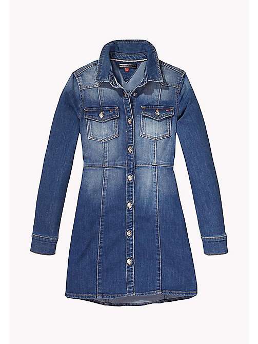 TOMMY HILFIGER Denim Shirt Dress - DELRIDGE BLUE STRETCH - TOMMY HILFIGER Girls - main image