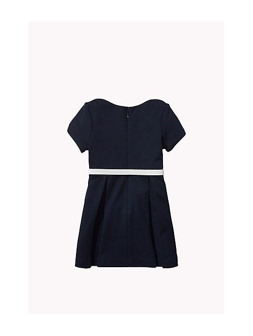 TOMMY HILFIGER Bateau Neck Dress - NAVY BLAZER - TOMMY HILFIGER Girls - detail image 1