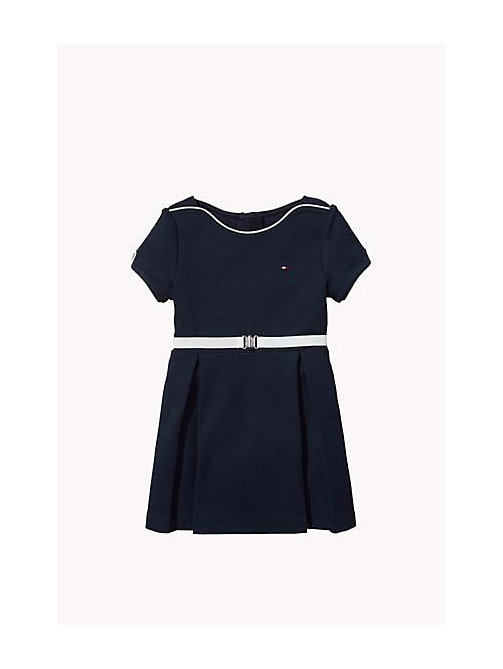 TOMMY HILFIGER Bateau Neck Dress - NAVY BLAZER - TOMMY HILFIGER Girls - main image