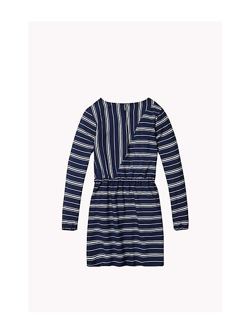 TOMMY HILFIGER Striped Dress - PEACOAT - TOMMY HILFIGER Girls - detail image 1