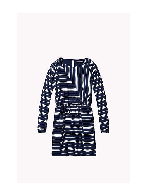 TOMMY HILFIGER Striped Dress - PEACOAT - TOMMY HILFIGER Girls - main image