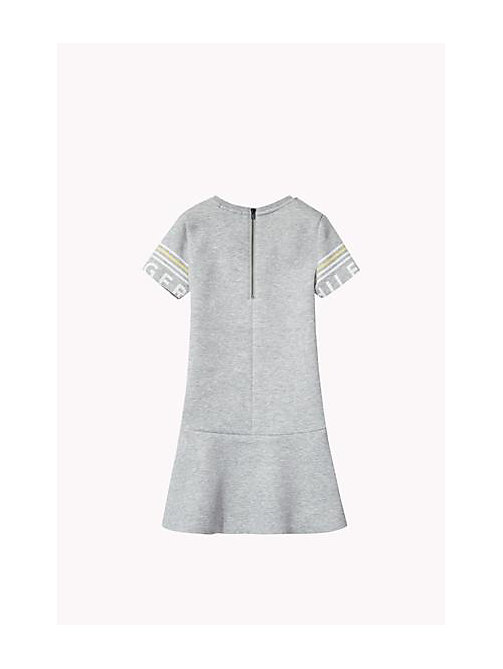 TOMMY HILFIGER Flared Dress - GREY HEATHER - TOMMY HILFIGER Girls - detail image 1