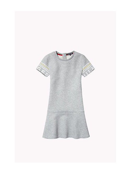 TOMMY HILFIGER Flared Dress - GREY HEATHER - TOMMY HILFIGER Girls - main image