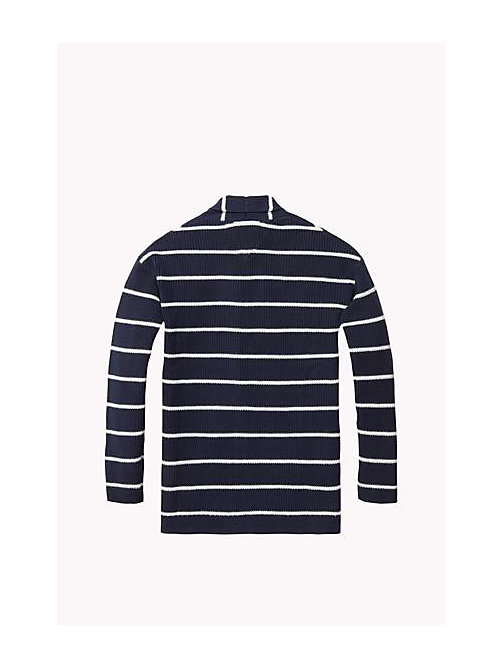 TOMMY HILFIGER Stripe Cardigan - NAVY BLAZER / BRIGHT WHITE - TOMMY HILFIGER Girls - detail image 1