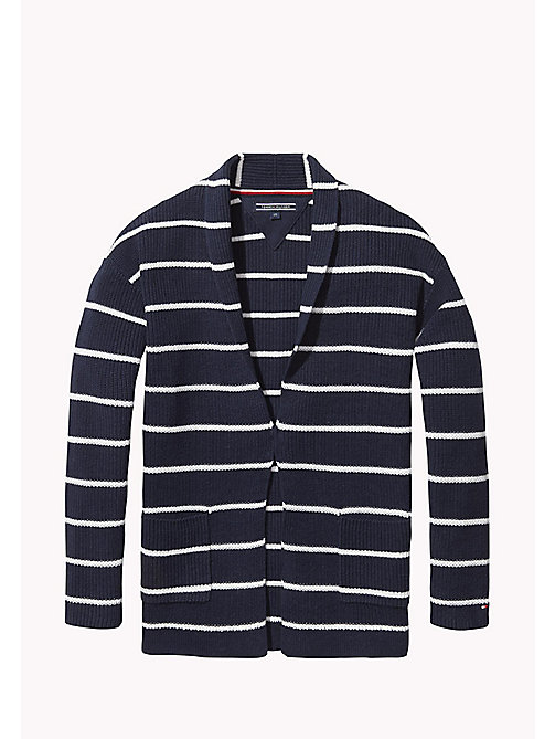 TOMMY HILFIGER Stripe Cardigan - NAVY BLAZER / BRIGHT WHITE - TOMMY HILFIGER Girls - main image