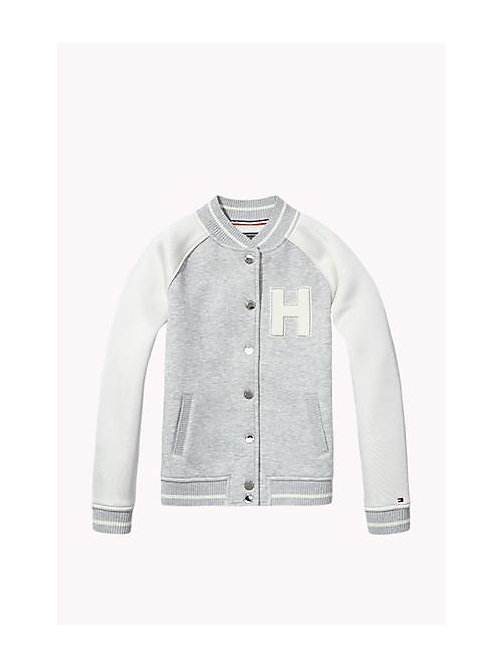 TOMMY HILFIGER Varsity Jacket - GREY HEATHER - TOMMY HILFIGER Girls - main image