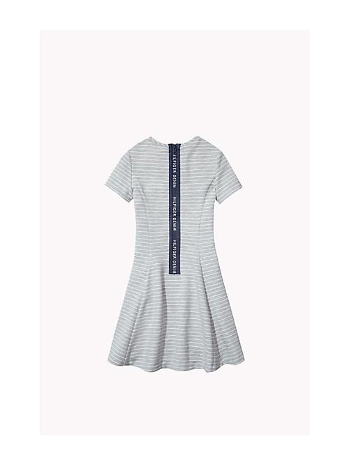 Striped Skater Dress - GREY HEATHER - TOMMY HILFIGER Girls - detail image 1