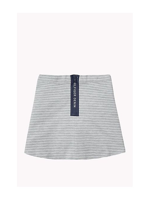 TOMMY HILFIGER Striped Skirt - GREY HEATHER - TOMMY HILFIGER Girls - detail image 1