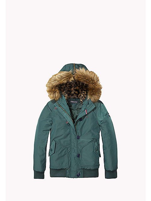 TOMMY HILFIGER Hooded Jacket - GREEN GABLES - TOMMY HILFIGER Girls - main image