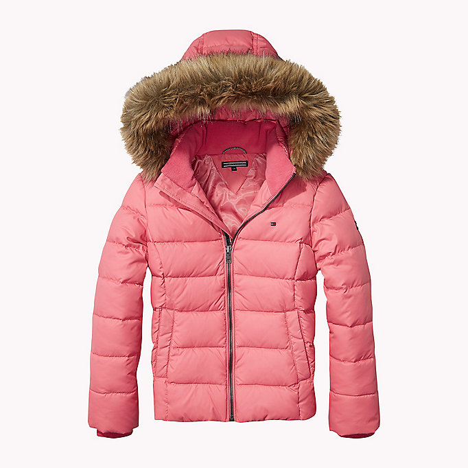 hooded down jacket tommy hilfiger official website. Black Bedroom Furniture Sets. Home Design Ideas