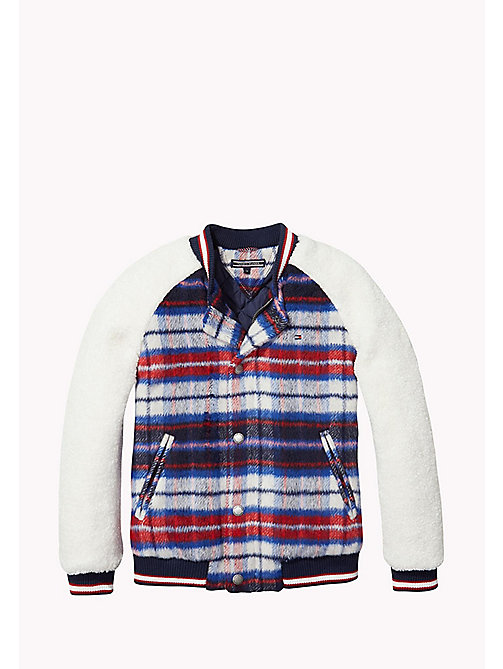 TOMMY HILFIGER Plaid Varsity Jacket - NAVY BLAZER - TOMMY HILFIGER Girls - main image