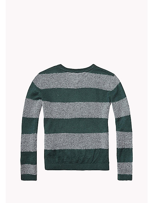 TOMMY HILFIGER Striped Jumper - GREEN GABLES/MID GREY HTR - TOMMY HILFIGER Girls - detail image 1