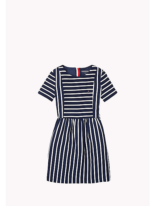 TOMMY HILFIGER Striped Dress - NAVY BLAZER - TOMMY HILFIGER Girls - main image
