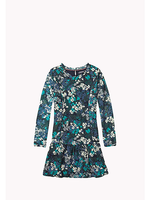 TOMMY HILFIGER Flower Print Dress - GREEN GABLES - TOMMY HILFIGER Girls - main image