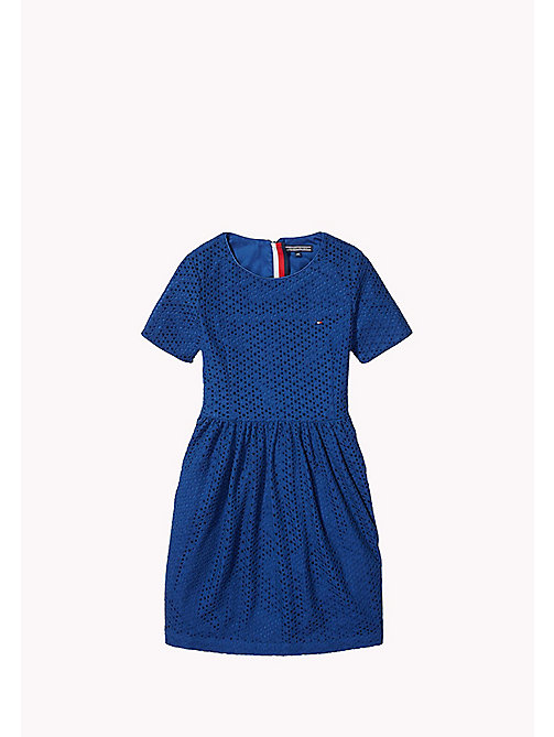 TOMMY HILFIGER Lace Dress - ESTATE BLUE - TOMMY HILFIGER Girls - main image